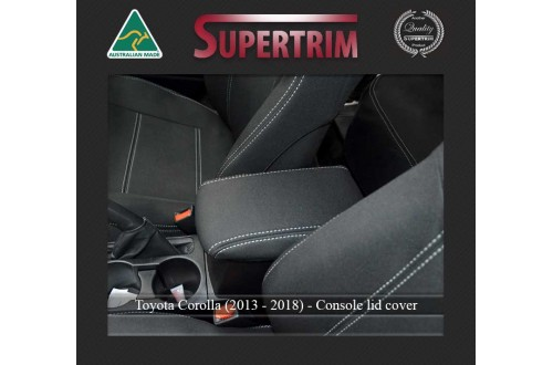 Console Lid Cover suitable for Toyota Corolla (2013 - 2018) Premium Neoprene (Automotive-Grade) 100% Waterproof